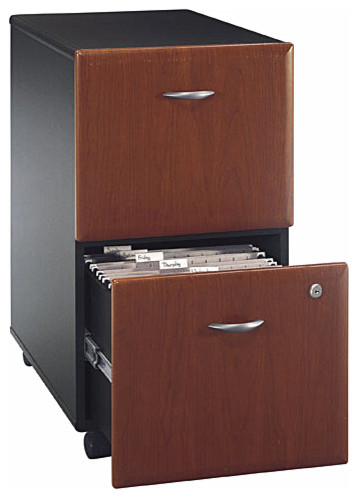 Hansen Cherry Double Drawer Assembled File Ca.