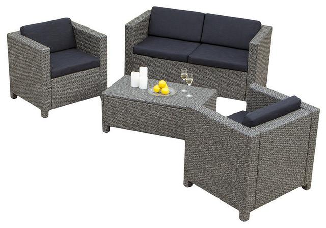 4 Piece Venice Outdoor Wicker Sofa Set