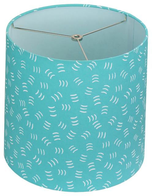 Maratodd Fabric Drum Lampshade 12 X13, Aqua Blue Lamp Shades