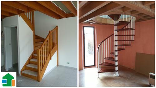 Forme d escalier escalier rangement marches with forme d - Meuble en forme d escalier ...