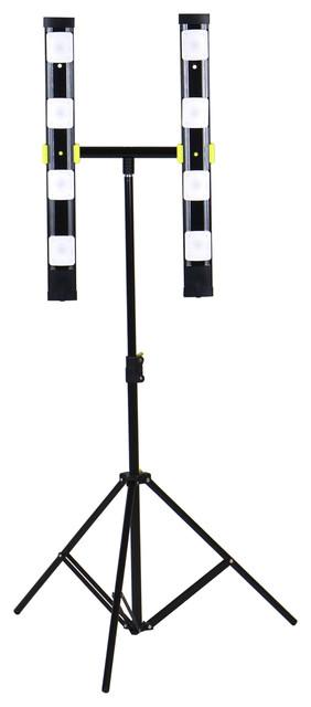 7200 Lumen Dual Head LED Work Light Stand Light Outdoor