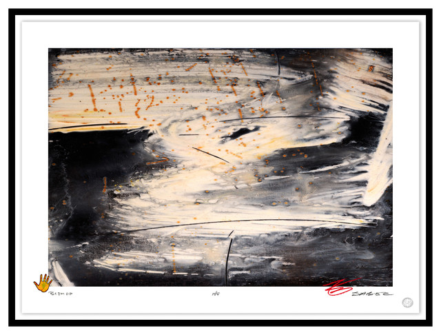 Contemporary Modern Abstract Fine Art, BISHOP, by Charles Sabec, 2014, Black