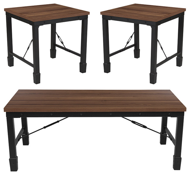 Flash Furniture Brentwood 3-Piece Occasional Table Set