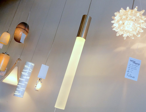 different pendant lights with a multi port canopy