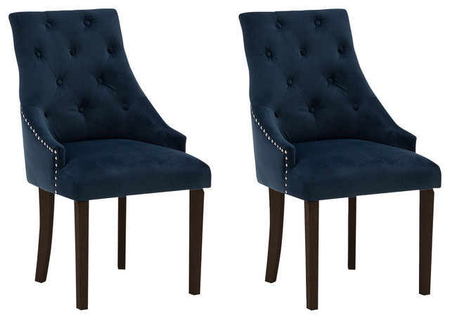 Hobbs Midnight Blue Dining Chairs, Set of 2, Dark