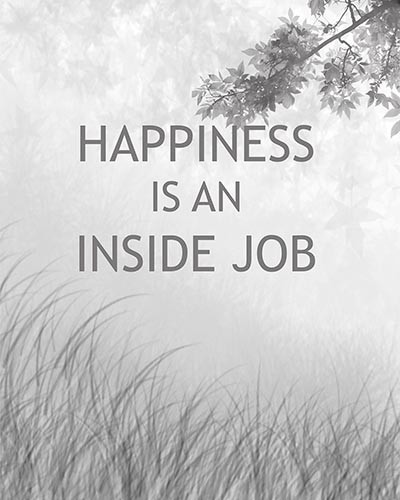 Happiness is an Inside Job, Ready To Hang Canvas Kids Wall Decor - Tradi...