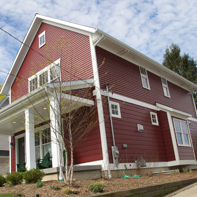 Trucedar Steel Siding Double 4 Quot In Cottage Red Grand
