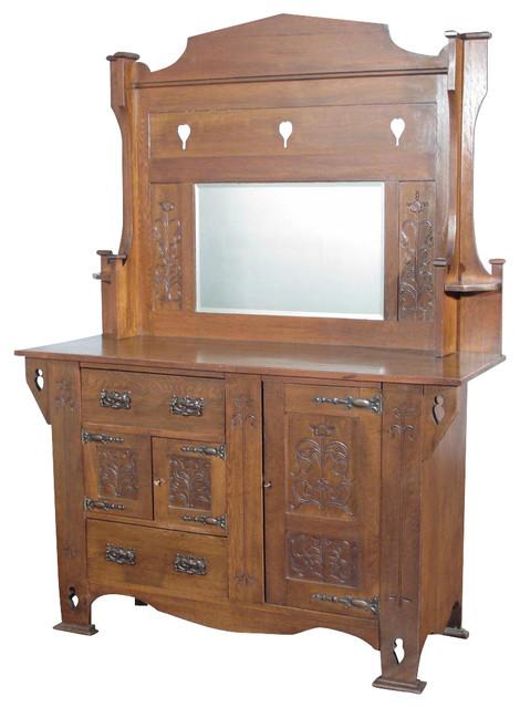 Antiques Consigned Antique Oak Arts Amp Crafts Mirrorback