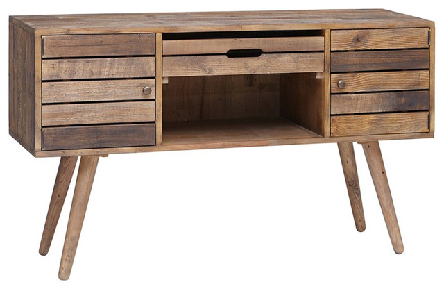 rustic mid century style reclaimed wood sideboard buffet. Black Bedroom Furniture Sets. Home Design Ideas