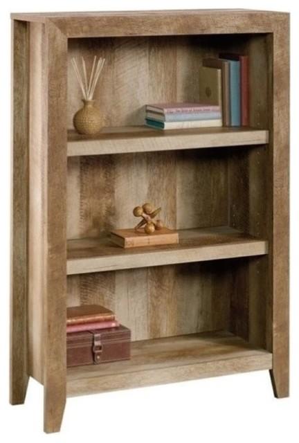 Pemberly Row 3-Shelf Bookcase, Craftsman Oak.