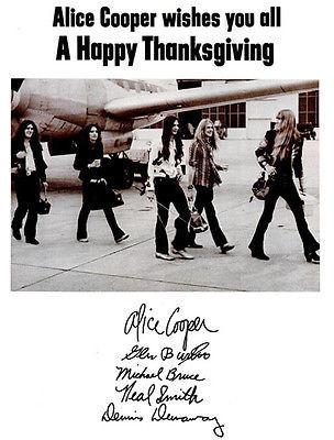 Alice Cooper Happy Thanksgiving 1971 Promo Poster