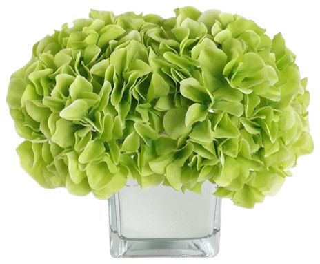 Home Decor ArtificialSilk Flower with Vase LED Arrangement