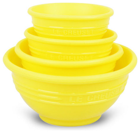 Le Creuset Silicone Measuring Cup Prep Bowls - Traditional - Mixing ...