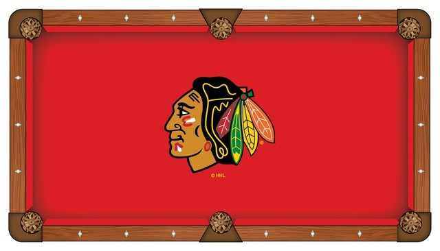 8 Chicago Blackhawks Pool Table Cloth By Covers By Hbs