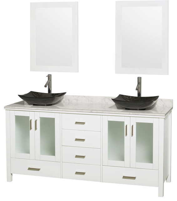 White Vanity And Marble Top