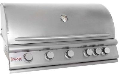 "40"" 5-Burner Blaze Liquid Propane  Grill With Rear Burner."