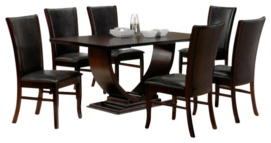 7 Piece Isabella Collection Espresso Dining Table Set  : contemporary dining sets from www.houzz.com size 541 x 286 jpeg 40kB