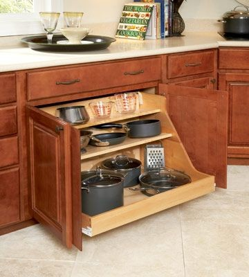 Pot and Pan pull out choices (can't do drawers)