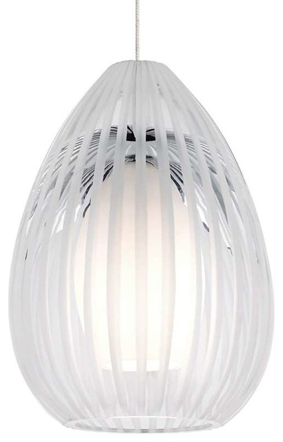 Tech Lighting Ava Pendant, Satin Nickel.