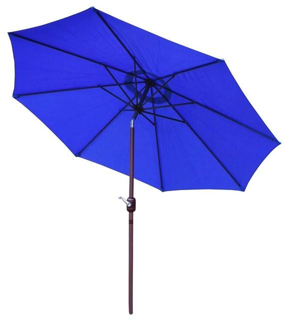 Umbrella With Crank And Tilt System.