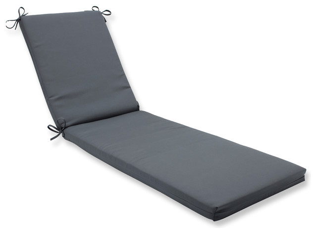 Canvas Charcoal Oversized Chaise Cushion.