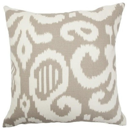 "Teora Ikat Pillow Fog 20""x20""."