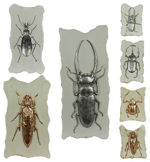 Assorted Resin Bug Relief Plaques, Set of 7