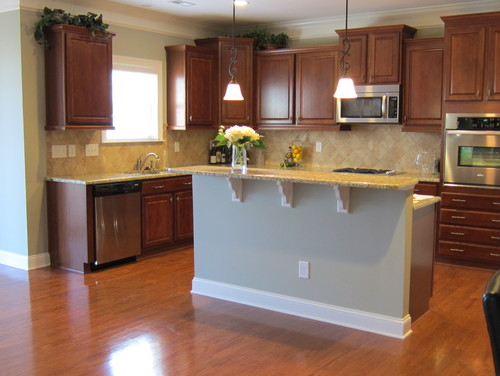 Kitchen Island Makeover, Can I mix cabinet styles?