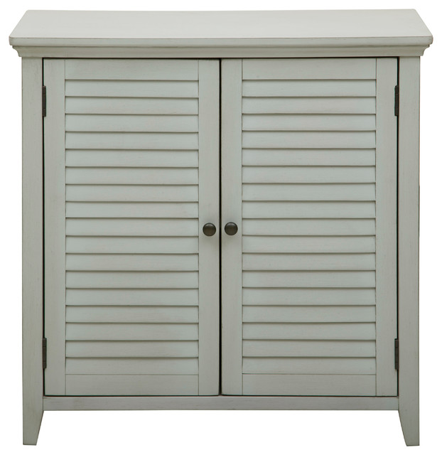 Pulaski Louvered Bathroom Storage Cabinet - Bathroom Cabinets And Shelves | Houzz