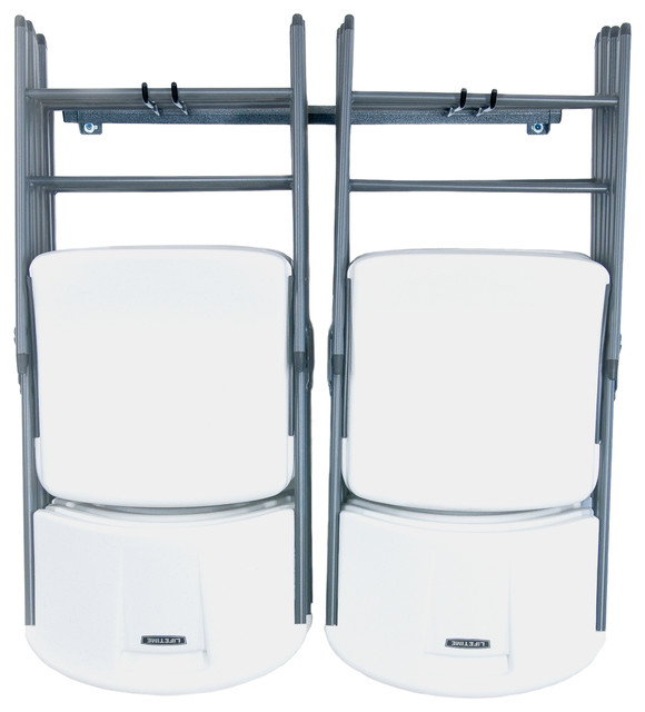Folding Chair Rack - Industrial - Garage And Tool Storage ...