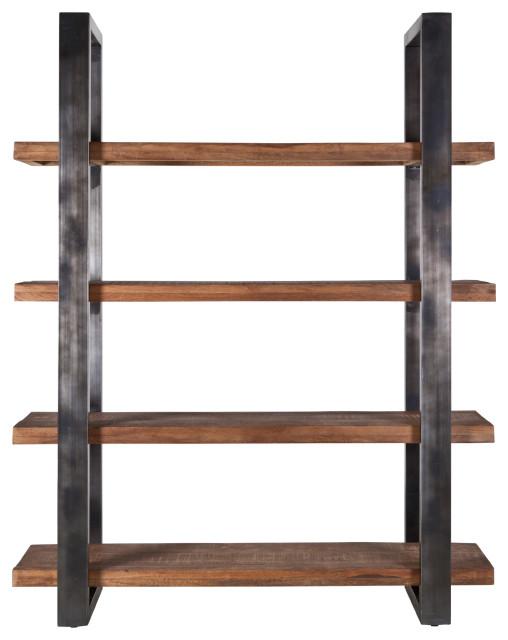 Industrial Open Wooden Bookcase (M) | Eleonora Mango