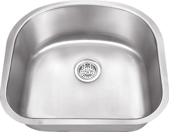 Stainless Steel 16-Gauge Single Bowl Kitchen Sink.