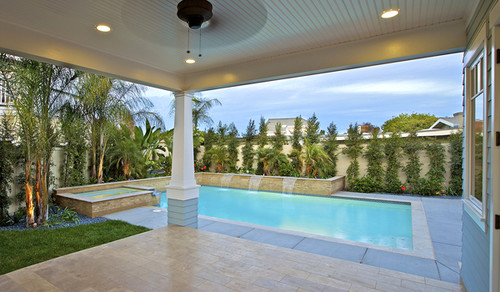 traditional pool by Christian Rice Architects, Inc.