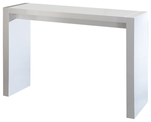 Contemporary Wooden Bar Table, White Lacquer Contemporary Indoor Pub  And Bistro