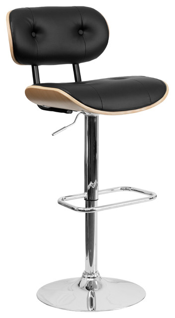 Eiffel Button Tufted Adjustable Swivel Bar Stool