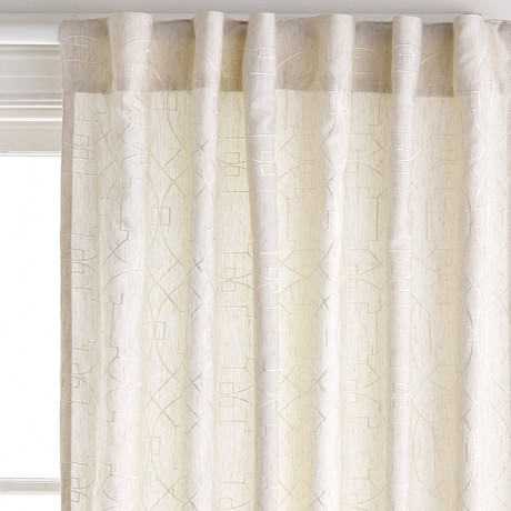 Concealed With Curtain Carraway Linen Lightfiler 140x230cm Concealed Tab Top Curtain traditional-curtains