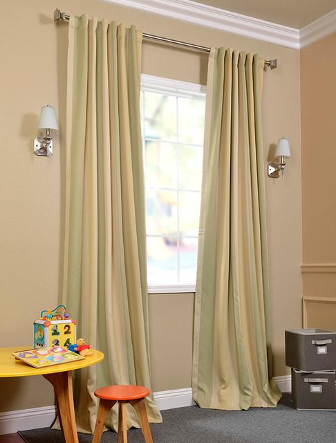 Pistachio Stripe Blackout Curtains