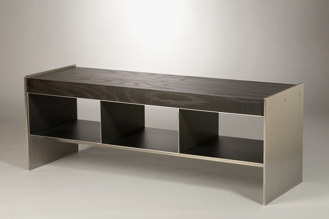 Furniture: Stainless Steel & Ash Shower Bench