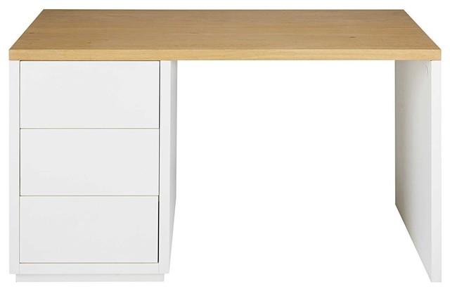 Scrivania In Legno Bianco : Top e struttura in mdf rivestiti in pvc effetto legno gambe in
