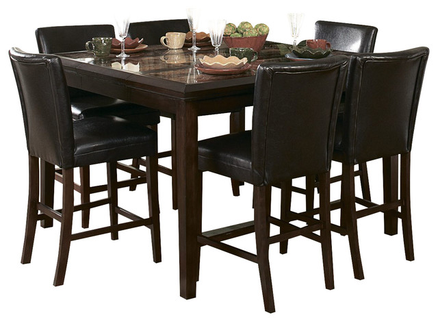 shop houzz | homelegance belvedere 7 piece counter height dining