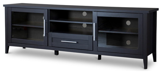Espresso Tv Stand Transitional Entertainment Centers And Tv