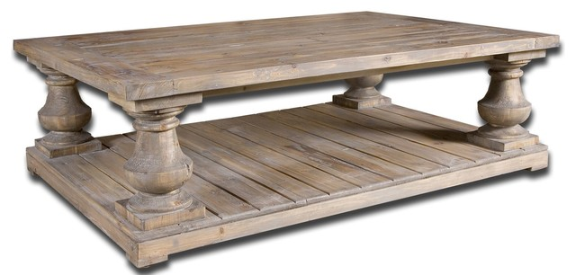 Uttermost 24251 Stratford Rustic Reclaimed Wood Rectangular Cocktail Table  Traditional Coffee Tables