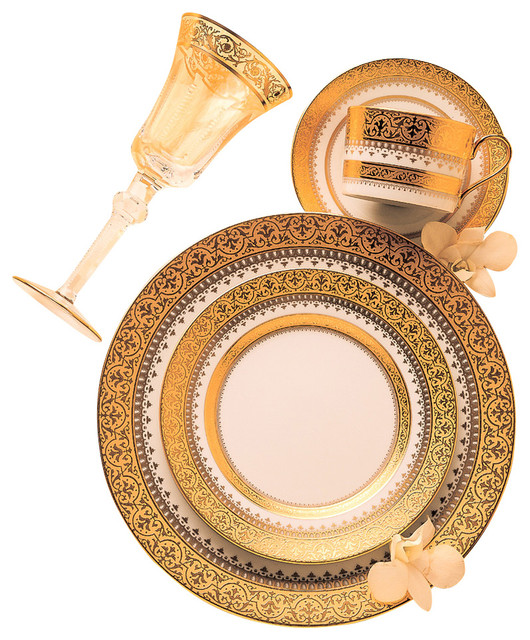 Imperial Gold Rim Soup Plate