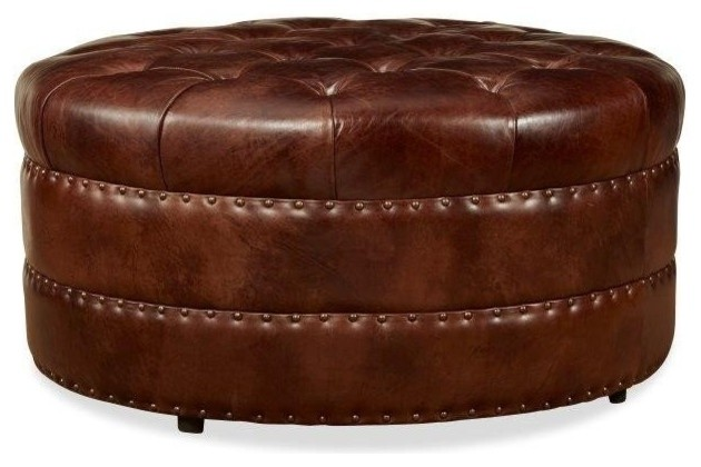 Astounding Palatial Leather Hudson Ottoman Ncnpc Chair Design For Home Ncnpcorg