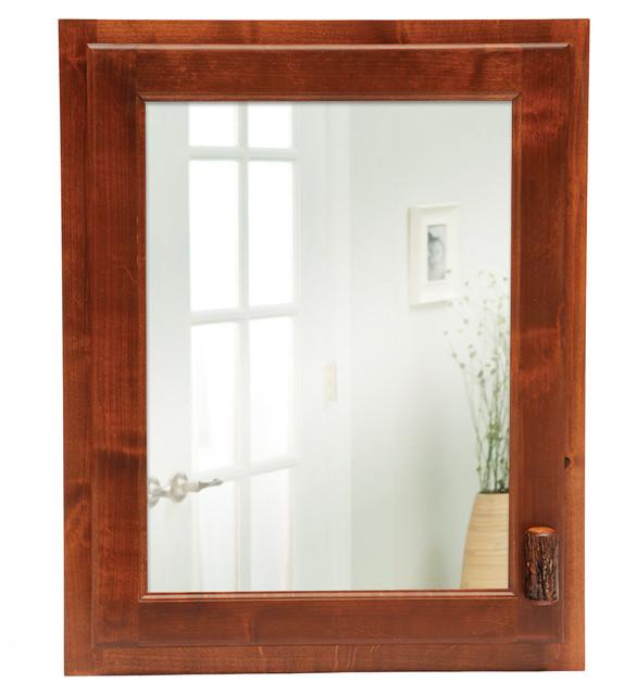 Hickory Inset Medicine Cabinet, Espresso, Hinged Left - Medicine Cabinets - by Fireside Lodge ...