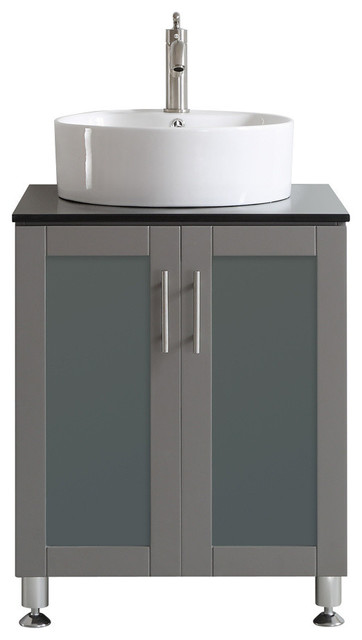 24 in vanity with sink. tuscany single vanity, gray, 24\ 24 in vanity with sink