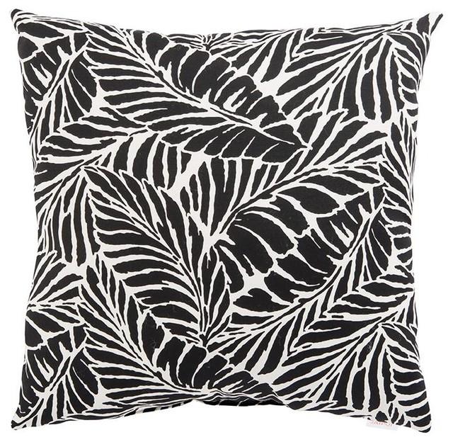 """Jaipur Malkus Fresco Black Outdoor Pillow, 18""""x18"""""""