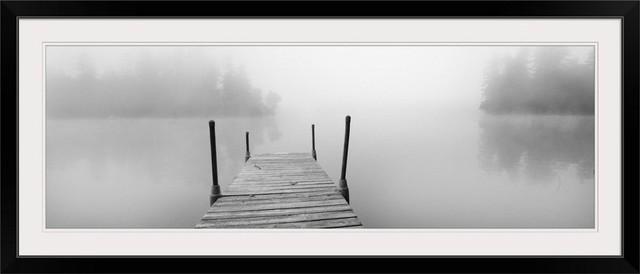 Photography Home Decor Foggy Dock II Canvas Wall Art Print