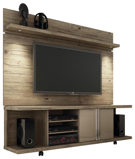 manhattan comfort carnegie tv stand and park 1 8 floating wall tv panel with led lights. Black Bedroom Furniture Sets. Home Design Ideas