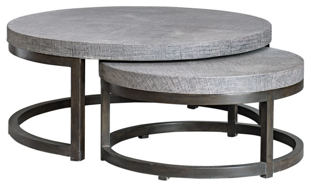 Uttermost Aiyara Gray Nesting Tables S 2 Farmhouse Coffee